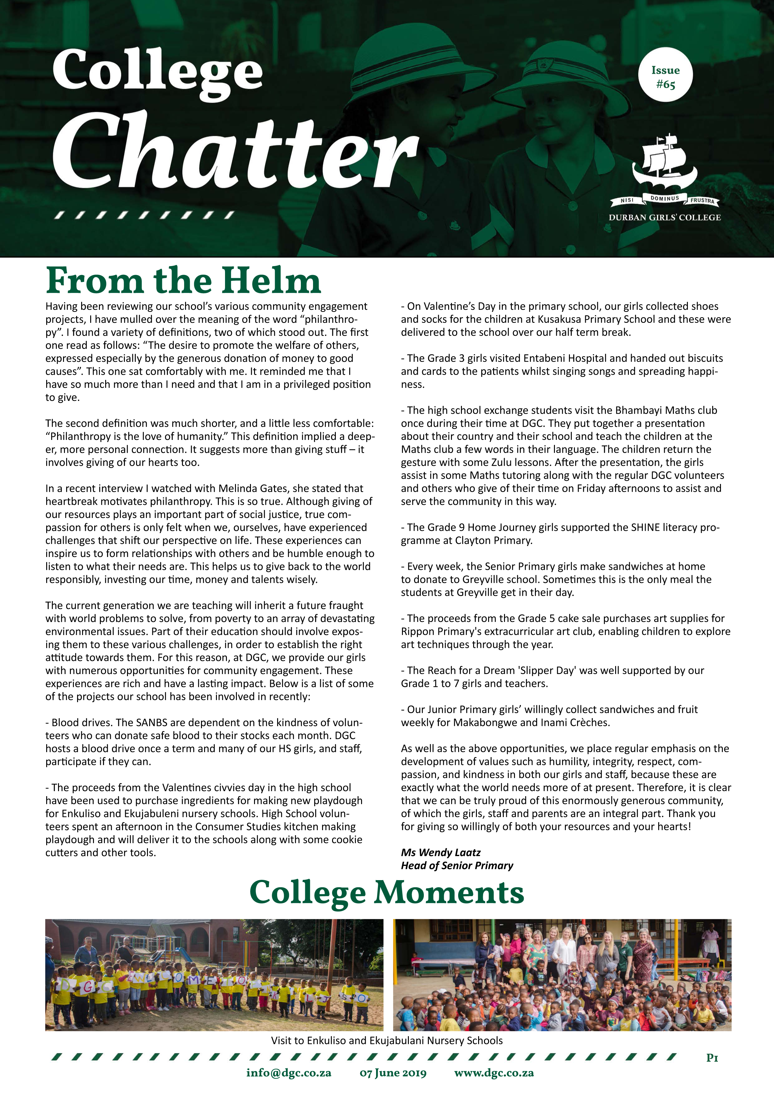 College-Chatter-Official-Issue-#65-1 - Durban Girls College